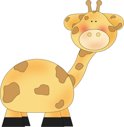 Giraffe Clip Art Image - a clip art image of a cute giraffe. Great for ...