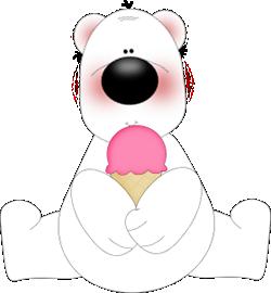 Bear Eating Ice Cream