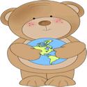 Bear Holding A Globe