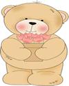 Bear Holding a Flower Pot