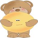 Bear Hugging A Smiley Face