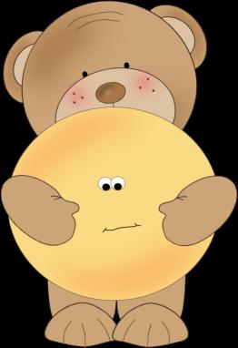 Bear Holding A Smiley Face