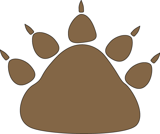 Brown Bear Paw Print - transparent brown bear paw print png vector ...