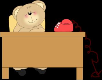 Bear At Desk