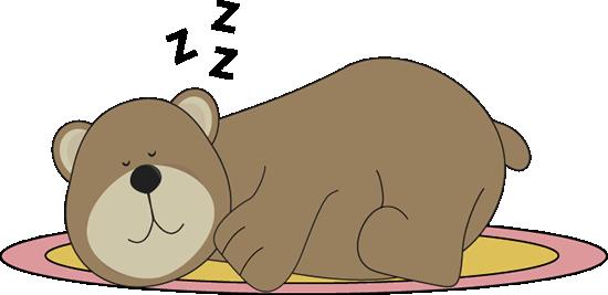Bear Sleeping on a Rug