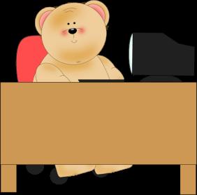 Bear Using Computer