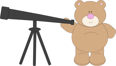 Bear Using Telescope