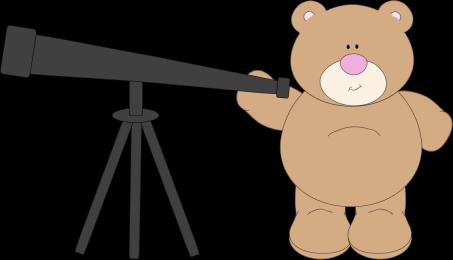 Bear Using Telescope