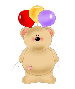Birthday Balloon Bear