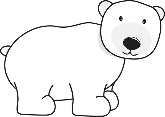 Polar Bear - adorable white polar bear. This is a transparent png ...