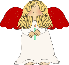 christmas angel clip art a clip art image of a blond angel with red wings wearing a white dress and holding a green christmas candle - A Christmas Angel