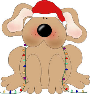 Christmas Dog Clip Art Christmas Dog Image