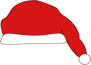 Download santa hat image a clip art image of a red santa hat