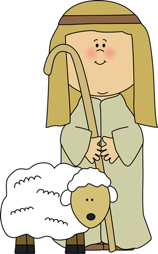Shepherd with Sheep Clip Art - Shepherd with Sheep Image