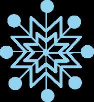 Whimsical Snowflake Clip Art